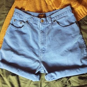 VINTAGE / Faded Glory Periwinkle High Waist Short